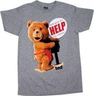 【在庫あり】 映画テッド Tシャツ グレー TED コメディ ハングオーバーを超えた!?