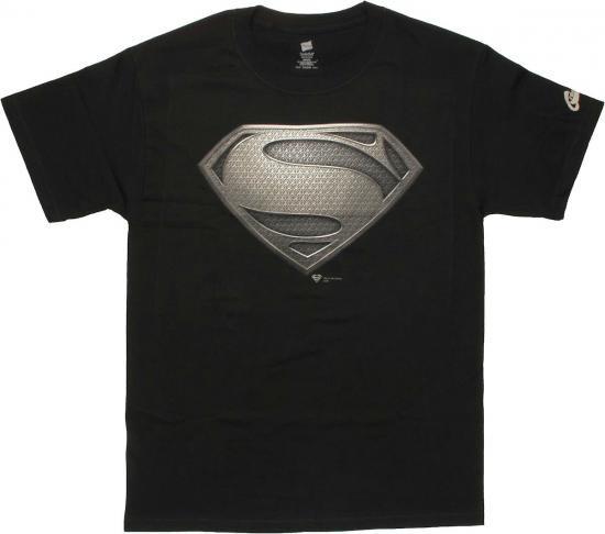 【2XLサイズのみ在庫あり】2013年 映画スーパーマン Man Of Steel Tシャツ 通常 【ブラックロゴ】