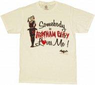 <img class='new_mark_img1' src='https://img.shop-pro.jp/img/new/icons25.gif' style='border:none;display:inline;margin:0px;padding:0px;width:auto;' />【XLサイズ僅か在庫あり】バットマンアーカムシティHarley Quinn ハーレー Tシャツ Batman Arkham