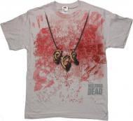 【僅か在庫あり】 ウォーキングデッド ダリル 耳 Tシャツ 【通常 かすれプリント】 Walking Dead