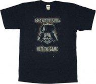 【僅か在庫あり】スターウォーズ Tシャツ Hate the Game 【ソフトタイプ 紺色】 ボバフェット トルーパー