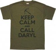 在庫のみで完全終了★Call ウォーキングデッドTシャツ ダリル 【オリーブグリーン】 Walking Dead 正規品