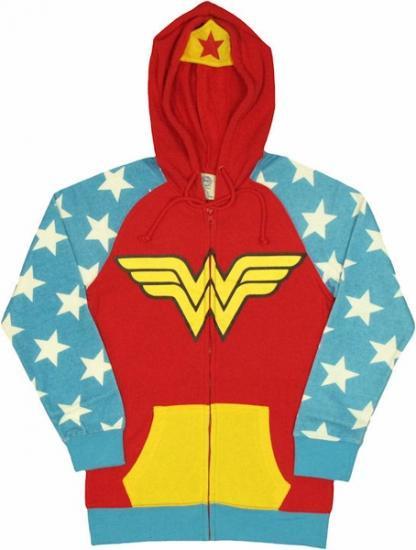 【激安★在庫のみで完全終了】ワンダーウーマン 裏起毛 フード付パーカーアメコミ正規品 Wonder Woman Hodd…