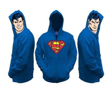 50%OFF【激安★僅か在庫あり】スーパーマンロゴ付き長袖パーカー衣装にも★DCコミックライセンス商品