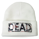 Consider Me Dead - Dead (White) (Embroidered) (Beanie) [入荷予約商品]
