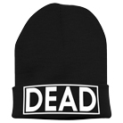 Consider Me Dead - Dead (Black) (Embroidered) (Beanie) [入荷予約商品]