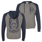 August Burns Red - Hourglass (Heather/Navy) (Lightweight Zip Up Hoodie) [入荷予約商品]