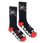 Strung Out - SO (Black/Red) (Socks) [入荷予約商品]