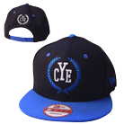 Close Your Eyes - Logo (Black/Blue) (Snapback) [入荷予約商品]