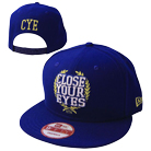 Close Your Eyes - Logo (Blue/Gold) (Snapback) [入荷予約商品]
