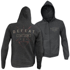 Defeat The Low - Logo (Heather Charcoal) (Zip Up Hoodie) [入荷予約商品]