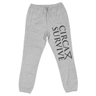 Circa Survive - Logo (Heather Grey) (Sweatpants) [入荷予約商品]