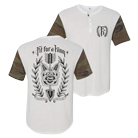 Fit For A King - The End (Tri-blend White/Camo) (Henley) [入荷予約商品]
