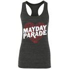 Mayday Parade - Sketchy Heart (Heather Black) (Racerback Tank Top) [girl's] [入荷予約商品]