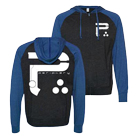Periphery - Big P (Black/Blue) (Lightweight Zip Up Hoodie) [入荷予約商品]