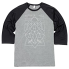 Between the Buried and Me - Shapes (Heather/Black) (Baseball) [入荷予約商品]
