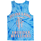 Fit For A King - American Metalcore (Blue Tie Dye) (Tank Top) [入荷予約商品]