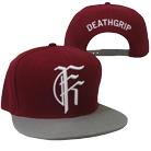 Fit For A King - Deathgrip (Maroon) (Snapback) [入荷予約商品]