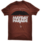 Mayday Parade - A Lesson In Romantics Umbrella (Maroon) [入荷予約商品]