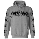 Hatebreed - Skulls All Over (Heather Grey) (Hoodie) [入荷予約商品]