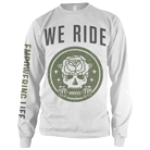 We Ride - Rose Skull (Long Sleeve) [入荷予約商品]