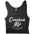 Comeback Kid - Script (Black) (Crop Top) [入荷予約商品]