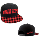 The Color Morale - Know Hope (Black/Red Plaid) (Snapback) [入荷予約商品]