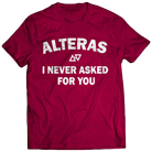 Alteras - Never (Maroon) [入荷予約商品]