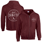 Ignite - California (Maroon) (Zip Up Hoodie) [入荷予約商品]