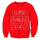Close Your Eyes - 2013 Holiday Design (Red) (Sweat) [入荷予約商品]