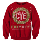 Close Your Eyes - Holiday Wreath (Red) (Sweat) [入荷予約商品]