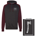 The Ongoing Concept - Handmade (Charcoal Heather/Burgundy) (Hoodie) [入荷予約商品]