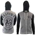 Elitist - Crew (Black/Heather) (Zip Up Hoodie) [入荷予約商品]