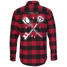 Stay Sick Clothing - Eternal Love (Red/Black) (Flannel Shirts) [入荷予約商品]
