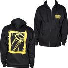 Eighteen Visions - Logo (Gold Ink) (Zip Up Hoodie) [入荷予約商品]