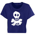 All Time Low - Skully American (Blue) (Crop Top) (Limited) [girl's] [入荷予約商品]