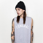 Funeral Co. - Varsity (Grey) (Sleeveless) [入荷予約商品]