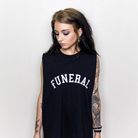 Funeral Co. - Varsity (Black) (Sleeveless) [入荷予約商品]