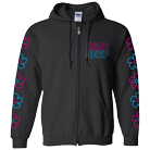 Neck Deep - Flower Icons (Zip Up Hoodie) [入荷予約商品]