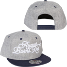 August Burns Red - 3D Script (Grey/Navy) (Embroidered) (Snapback) [入荷予約商品]