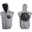 Alesana - Death Circle (Grey) (Zip Up Sleeveless Hoodie) [入荷予約商品]