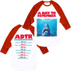 A Day To Remember - Shark (White/Red) (Baseball) [入荷予約商品]
