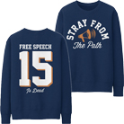 Stray From the Path - Free Speech (Navy) (Sweat) [入荷予約商品]