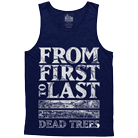 From First To Last - Bars (Dark Blue) (Tank Top) [入荷予約商品]