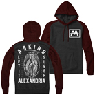 Asking Alexandria - Heaven & Hell (Maroon/Charcoal Heather) (Hoodie) [入荷予約商品]