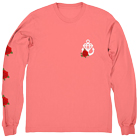 Stay Sick Clothing - Flower (Coral) (Long Sleeve) [入荷予約商品]