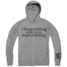 Chiodos - Stabbing (Heather Grey) (Zip Up Hoodie) [入荷予約商品]