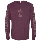 Hot Mulligan - Knife (Maroon Tri-Blend) (Long Sleeve) [入荷予約商品]