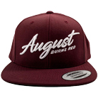 August Burns Red - Script 3D (Maroon) (Embroidered) (Snapback) [入荷予約商品]