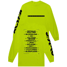 Northlane - Alien Tracklist (Safety Green) (Long Sleeve) [入荷予約商品]